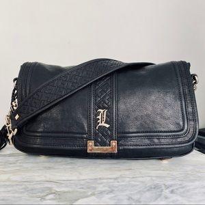 L.A.M.B. 2008 'Love' Line Leather Shoulder Bag